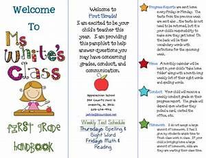 Class brochure first grade blue skies for Teacher brochure templates