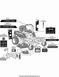 Troy Bilt 17af2acp011 Mustang Rzt 50  2008  Parts Diagram For Label Map