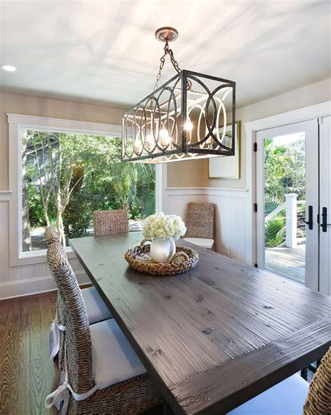 hanging  dining room chandelier   perfect height