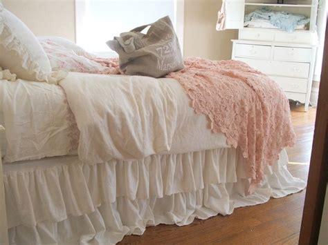 shabby chic dust ruffle shabby chic bedding romantic tiered ruffle dust ruffle bed skirt twin