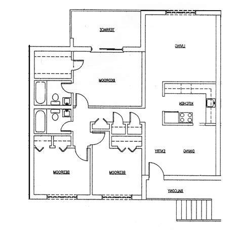 3 home plans fascinating 3 bedroom 2 bath house plans the wooden houses