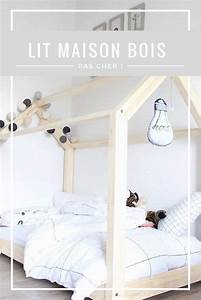 Lit Cabane Au Sol : le fameux lit maison en bois pas cher club mamans ~ Premium-room.com Idées de Décoration
