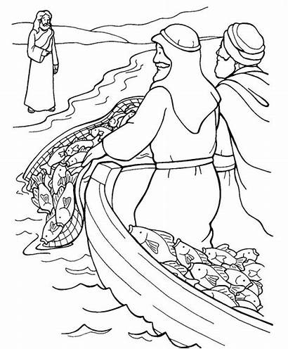 Jesus Coloring Pages Disciples Come Bible Sunday