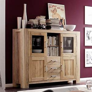 Highboard Eiche Massiv : highboard braxton in eiche massiv natur ge lt ~ Indierocktalk.com Haus und Dekorationen