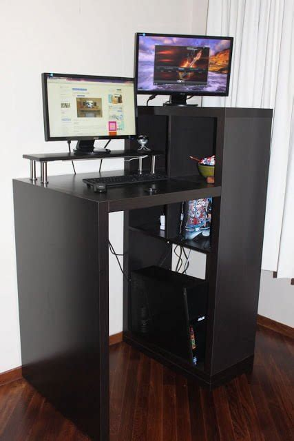 expedit workstation  small form standing desk ikea hackers ikea hackers