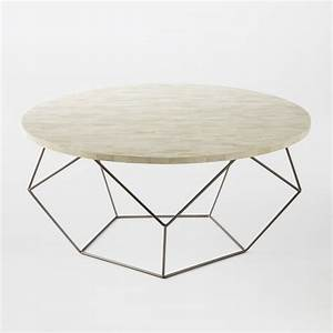 Origami coffee table west elm for West elm geometric coffee table