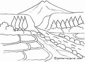 Gambar Kartun Rumah Dan Pemandangan Kumpulan Gambar Pemandangan