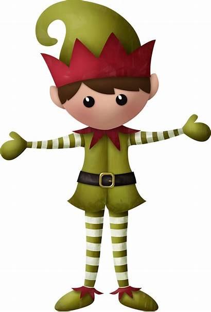 Clipart Elf Christmas Santa Claus Duendes Clipground