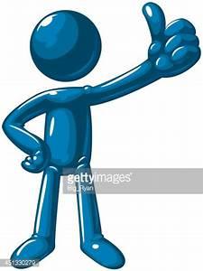 Blue Pouce Levé Homme Clipart vectoriel | Getty Images