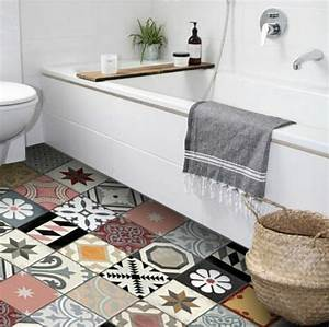 comment adopter le carrelage patchwork a son interieur With salle de bain style ancien