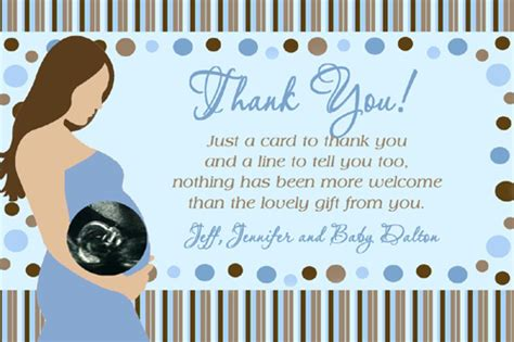 pregnant mommy ultrasound photo baby shower   card