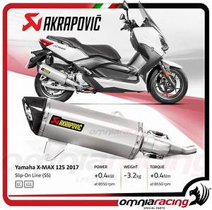Yamaha Xmax 125 2017 : akrapovic slip on stainless steel for yamaha x max 125 2017 hoamologated exhaust system s ~ Medecine-chirurgie-esthetiques.com Avis de Voitures