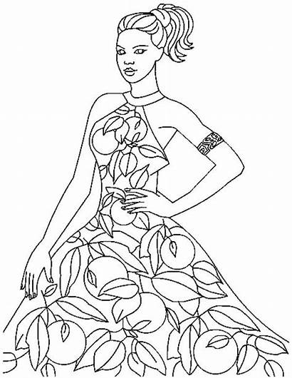 Coloring Pages Models Books Adult Colouring Drawing