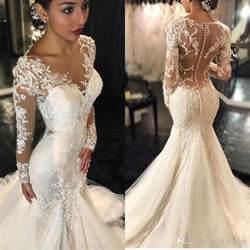 cheap wedding dresses 100 vintage 2017 lace mermaid wedding dresses sleeves appliques beaded wedding gowns sweep