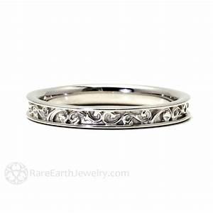 Filigree wedding band wedding ring for vintage ring art for Wedding rings bands
