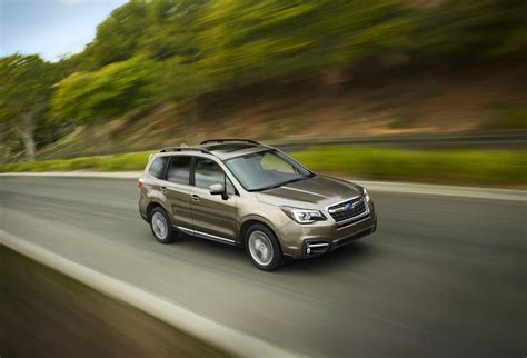 brown subaru forester 2017 subaru forester unveiled comes with more tech and