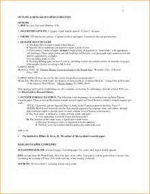 MLA Format Research Paper Outline Examples