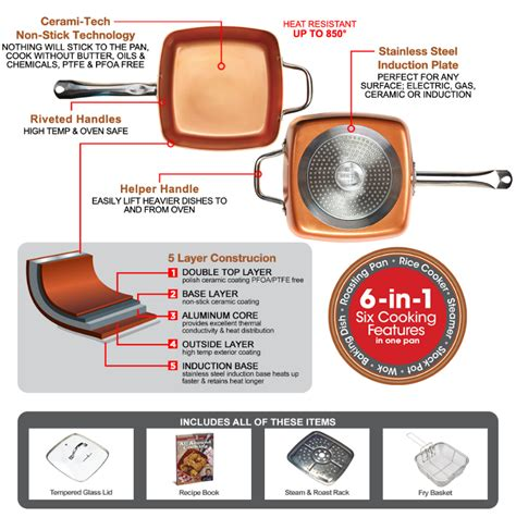 copper chef fry pan     pan  cooks faster healthier