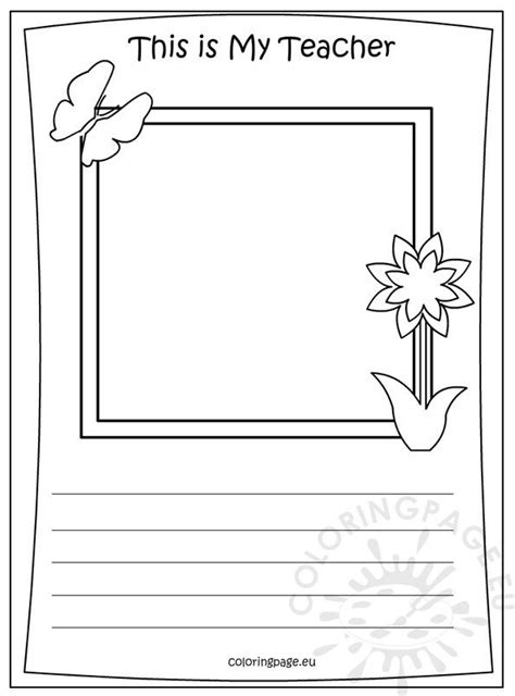 memory book    teacher coloring coloring page