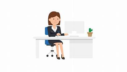 Working Desk Woman Svg Corporate Commons Wikimedia
