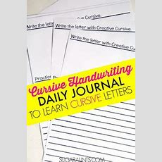 Cursive Writing Lesson Plan  The Ot Toolbox