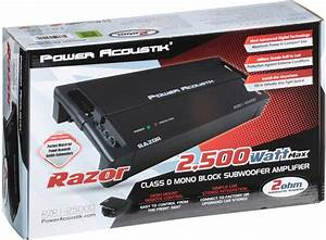 Power Acoustik 2 Ohm 2 500 Watt Max Subwoofer Amplifier