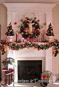 Christmas Mantel Decor on Pinterest