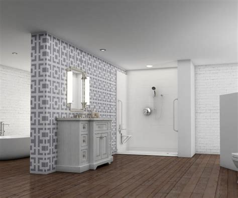 barrier free bathroom design barrier free walk in shower surrounds trending