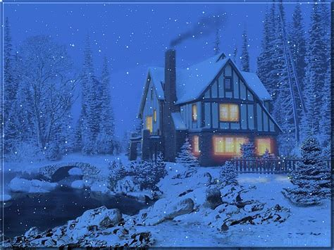 3d Snowy Cottage Animated Wallpaper - free wallpapers by tlc wallpapers tlc 3d snowy