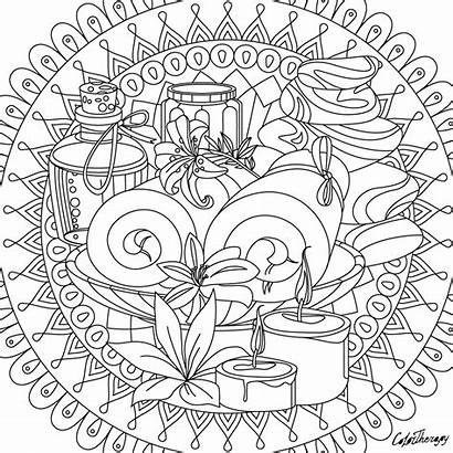 Coloring Pages Things Adults Spa Therapy Colorfy