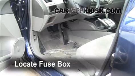 interior fuse box location   honda civic