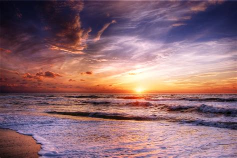 photo  beach sunset  stock photo