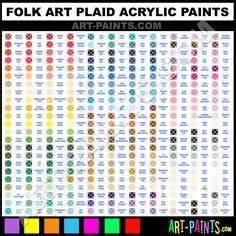 Folk Art Acrylic Paint Color Chart Folk Art Acrylic