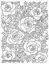 Coloring Pages Adults Blossom Cherry Tree Floral Printable Adult Rose Cafe Flowers Patterns Books Colouring Sheets Mandala Painting Getcolorings Getdrawings sketch template