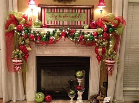 christmas fireplaces decoration ideas    large