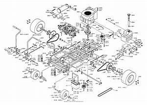 Dixon Ztr 429  1992  Parts Diagram For Chassis Assembly
