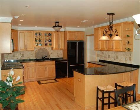 oak kitchen design ideas tag for tile kitchen floor ideas with oak cabinets