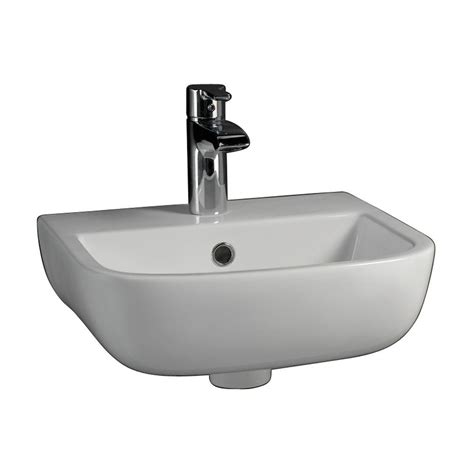 ada sinks home depot barclay products series 600 large wall hung bathroom sink