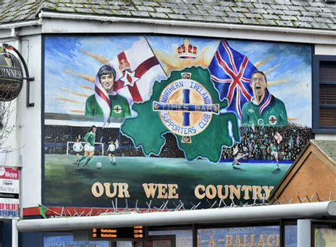 northern ireland football mural york  albert bridge