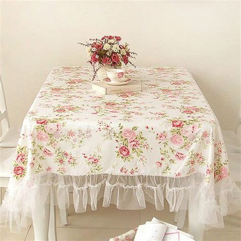 shabby chic ruffled tablecloth 1000 images about shabby chic tablecloths on pinterest shabby ruffled tablecloth and tablecloths