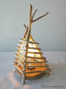 Lampe De Chevet Bois : caract re naturel lampe de chevet en bois flott ~ Teatrodelosmanantiales.com Idées de Décoration