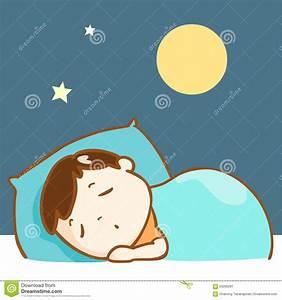 Cute Boy Sleeping Well Character Stock Vector ...