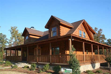 story log homes wrap  porch home building plans