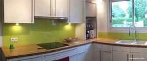 Crédence Cuisine Verre : cr dence en verre laqu pour votre cuisine verre ~ Premium-room.com Idées de Décoration