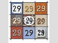 Numbers 29 Collage of house numbers twentynine