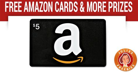 Free $5 Amazon Gift Card & More  Julie's Freebies