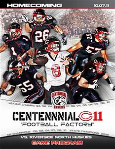 Pretty Witty Designs: Centennial HS Football Program Cover