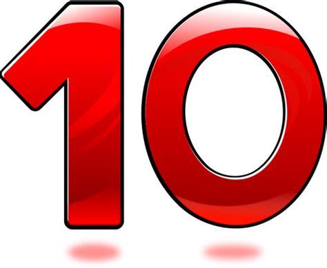 numeri clipart immagine vettoriale di lucido numero dieci immagini