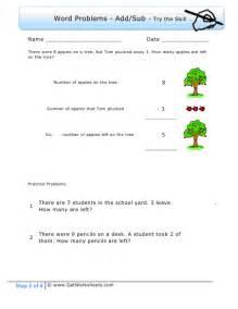 First Grade Math Word Problem Worksheets