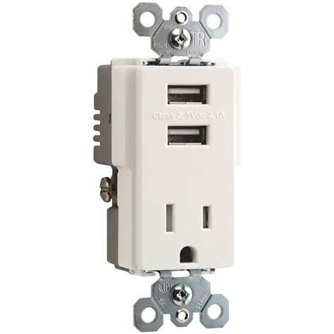 hotel ls with outlets and usb shop legrand radiant 15 amp 125 volt white indoor